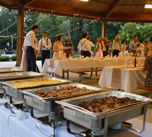 Wedding Reception Catering TW Shelter Outdoor Food Set Up